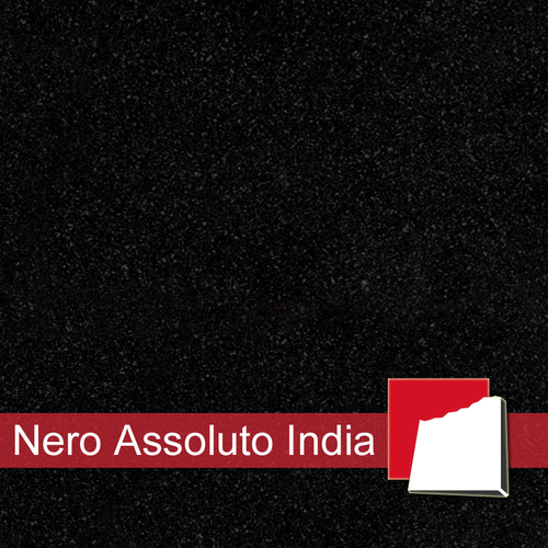 Nero Assoluto India Fliesen satiniert