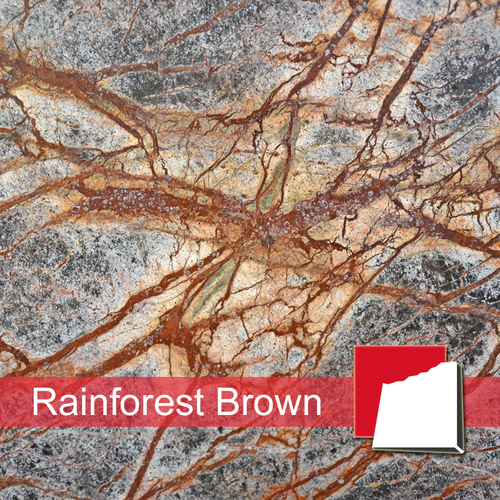 Rainforest Brown Marmorplatten