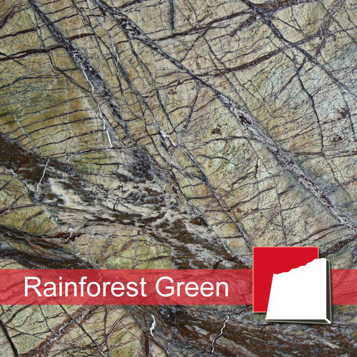 Rainforest Green Marmorplatten
